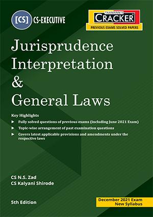CS Executive , Jurisprudence Interpretation , General Laws