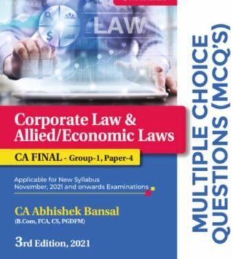 MCQs Corporate Law , Economic Laws For Ca Final