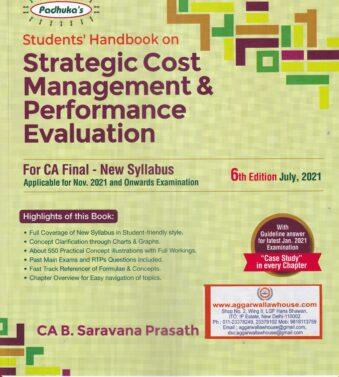 B SARAVANA PRASATH , Strategic Cost Management & Performance Evaluation for CA Final