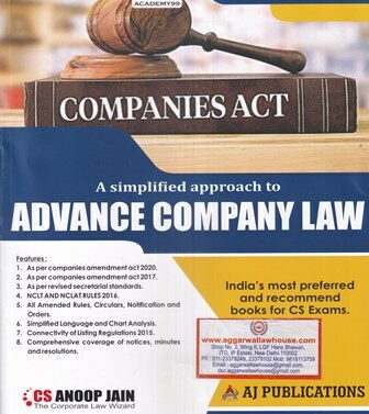 Advance Company Law for CS Professional (Old Course)