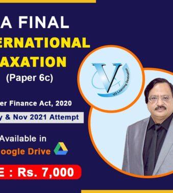 VG Learning Destination CA Final International Taxation Paper 6C , Vinod Gupta