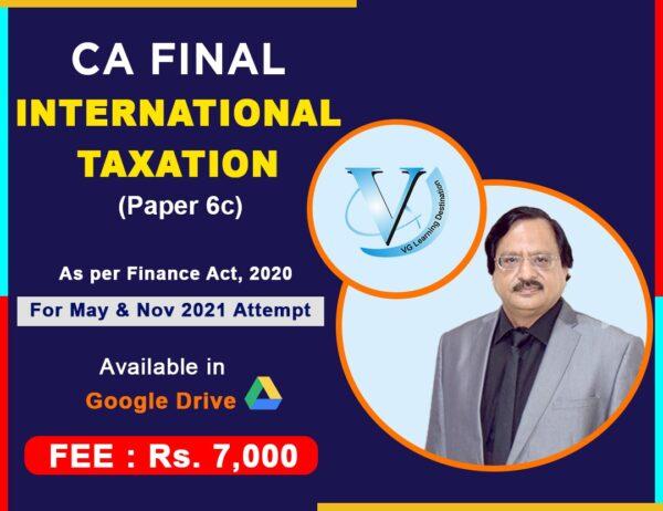 CA Final International Taxation , Paper 6C