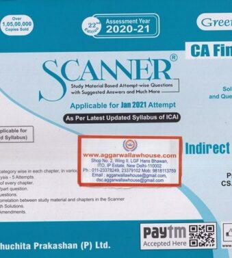 jan 2021 Exams , Solved Scanner Indirect Tax Laws for CA Final GR II , Arun Kumar , Rajiv Singh