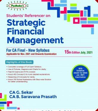 Strategic Financial Management for CA Final New Syllabus