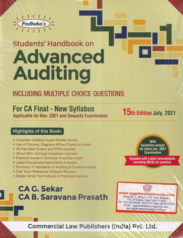 Advanced Auditing Including Multiple Choice Questions for CA Final