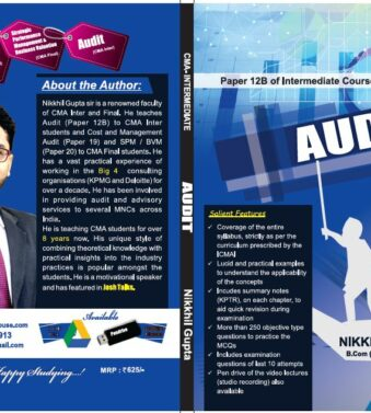 AUDIT Paper 12B for CMA Intermediate Course By NIKKHIL GUPTA